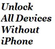 All Devices without iPhone