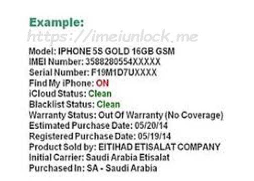 iPhone imei check Sold to + FMI + INITIAL CARRIER